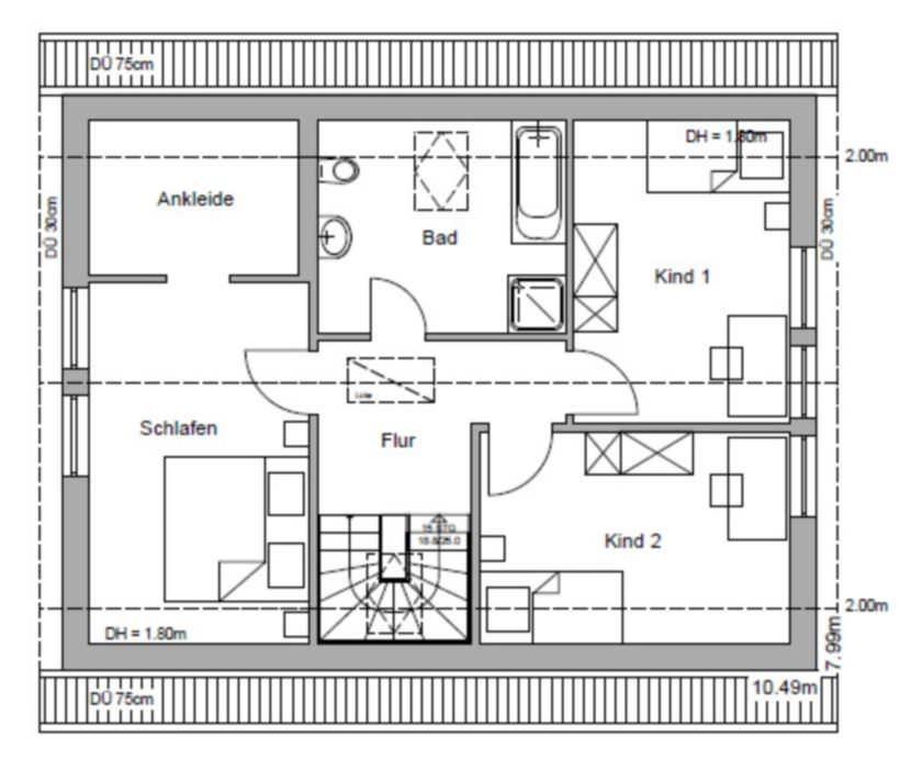 einfamilienhaus massivhaus typ rh n landhaus. Black Bedroom Furniture Sets. Home Design Ideas