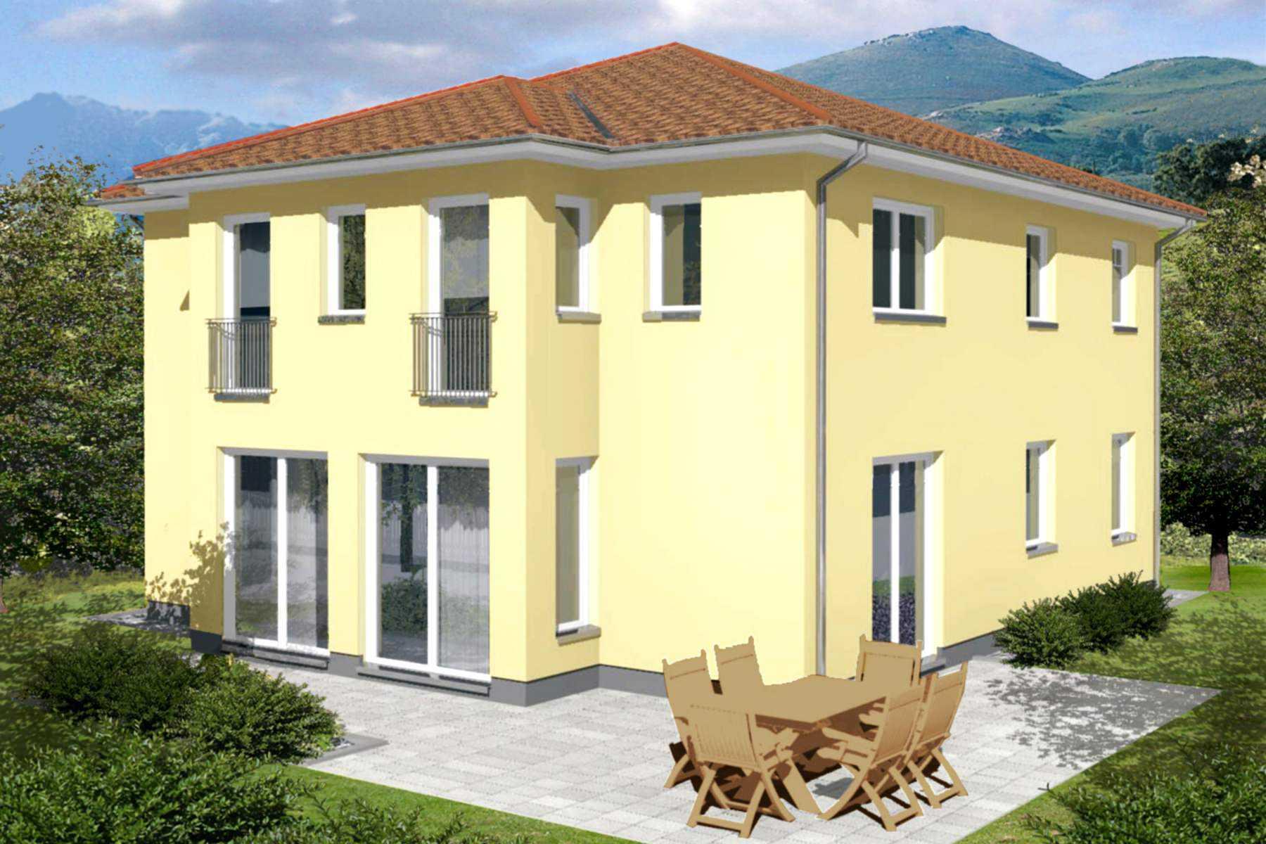 Stadtvilla stadthaus massivhaus typ rom for Traumhaus bauen